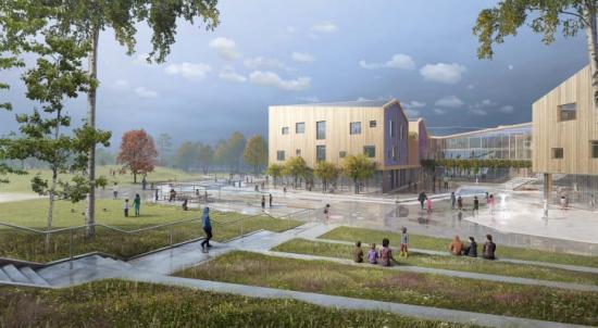 Torslandaskolan är enavtävlingsvinsterför LINK arkitektur.