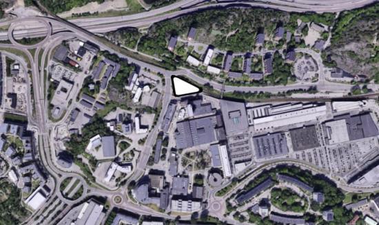 Flygfoto överSickla Station.