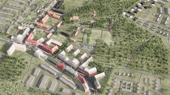 Översiktsbild, Nya Hallunda Gård (bilden är en illustration).Arkitema Architects - Tomtbergavägen