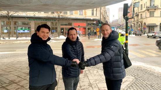 Martin Jacobsson (Fasadgruppen), Daniel Bergman (Tello) och Anders Mattson (Sdiptech).