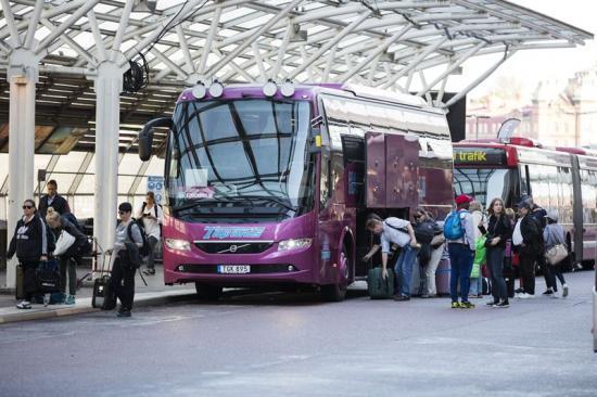 Bussterminalen på Cityterminalen.