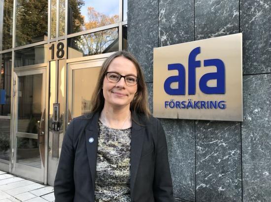 Susanna Stymne Airey, chef för enheten Förebygga på AFA Försäkring