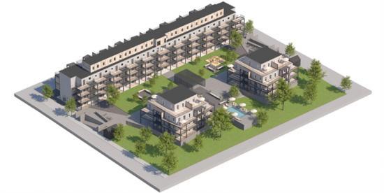 60 lägenheter och två butikslokaler ska byggas till Brf Ordboken i södra Visby på Gotland.