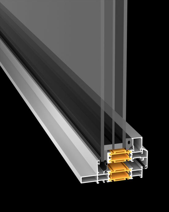 Sapa Fönster 1086 Vintage grundar sig på Thermo 86 omtyckta konstruktion med 86 mm djupa aluminiumprofiler(bilden är en illustration).