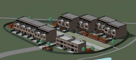 3D-illustration av projekt.