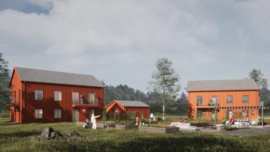 Illustrationsbilder på de planerade byggnationerna.