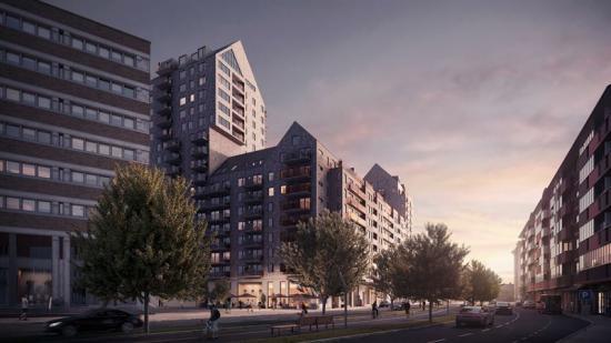 <span><span><span><span>Bostadshusen blir mellan sju och 20 våningar höga och kommer byggas på Bohusgatan intill Heden (bilden är en illustration).</span></span></span></span>