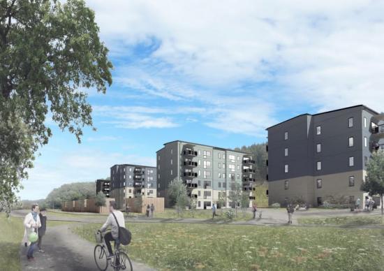 Atmosfärhus utvecklar och förvaltar egna bostadsprojekt med fokus på små, yteffektiva och välplanerade lägenheter.De nya bostäderna i området Enekullen kommer vara i storlekarna 1-3 rum och kök fördelat på fyra huskroppar med fem-sex våningar.