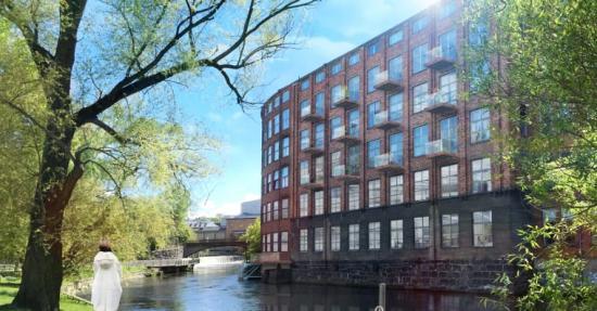 Dagsljusberäkningar gav rätt förutsättningar i projektet Yllefabriken, Norrköping.