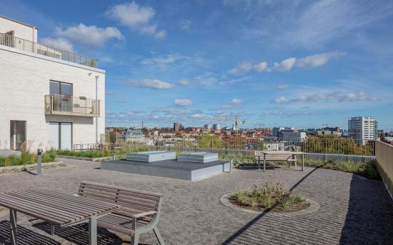 Byggherre ärStorstaden Stockholm Bostad AB och arkitekt ärVERA Arkitekter.